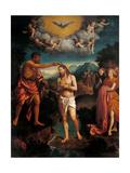 Baptism of Jesus Christ Plakat af Callisto Piazza
