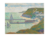 Port and Dock Calvados Poster by Georges Seurat