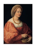 Woman with a Basket of Spindles Giclee Print by Andrea Del Sarto