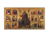 St. John Enthroned and Stories of his Life, Master of the St. John the Baptist Panel, 13th c. Italy Prints by  Master of the St John the Baptist Panel