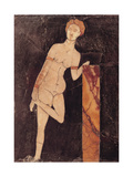 Aphrodite, Inlaid Marble Floor Panel, 1st c. A.D. Archaeological Museum, Naples, Italy Giclee Print