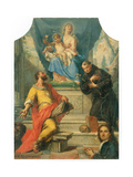 Madonna and Child with Sts Mark and Anthony of Padua Prints by Girolamo Brusaferro