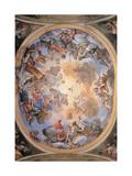 Glory of St. Gaudentius, Carlo Bartolomeo Borsetti, 1746. Vercelli, Italy Posters by Carlo Bartolomeo Borsetti
