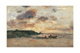 Coast at Trouville Prints by Eugène Boudin