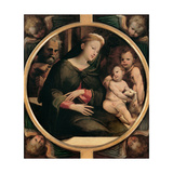 Holy Family with the Infant St John the Baptist Posters by Domenico Beccafumi