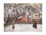 Chestnut Trees at Louveciennes Art par Camille Pissarro
