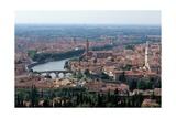 Verona, Italy, with Adige River. 20th c. Veneto, Italy. Posters