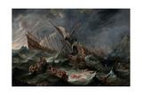 Shipwreck Prints by Cornelis De Wael
