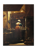 Woman Washing Dishes Plakater af Spagnuolo Crespi