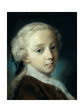 Portrait of a Young Man, by Rosalba Carriera, 1726. Accademia, Venice, Italy Giclée-tryk af Rosalba Carriera