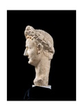 Portrait of Domitian with Civic Crown, 1st c. A.D. Ancient Roman statue. Palazzo Massimo, Rome Print