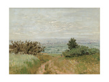 View of the Argenteuil Plain from the Sannois Hill Giclee Print by Claude Monet
