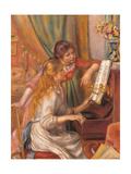 Girls at the Piano Poster von Pierre-Auguste Renoir