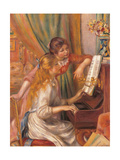 Girls at the Piano Posters by Pierre-Auguste Renoir