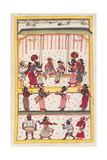Wedding scene. Drawing of Indian subject commissioned by Niccolao Manucci 18th c. Print