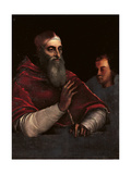 Portrait of Pope Paul III Farnese with a Grandson Giclee Print by Sebastiano Luciani