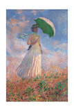Woman with a Parasol Turned to the Right Plakater af Claude Monet