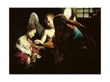 St. Peter Healing St. Agatha Kunst af Giovanni Lanfranco