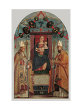 Madonna Enthroned with Child, Sts. Zeno and Nicholas Prints by Francesco Morone
