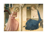 Annunciation with Gabriel Archangel, detail Posters by  Beato Angelico