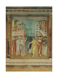 St. Francis Renounces His Father's Earthly Wealth Poster by  Giotto di Bondone