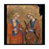 St. Agnes and Another Saint Print by Jacobello del Fiore