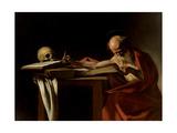 St. Jerome Plakater af Caravaggio