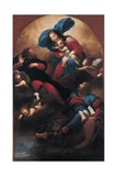 Madonna and Child between Justice and St. Mark Prints by Sebastiano Mazzoni