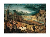 Return of the Herd (Autumn) Planscher av Pieter Bruegel the Elder