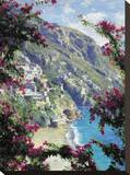 Positano, the Amalfi Coast Stretched Canvas Print by Curt Walters