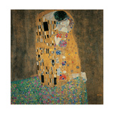 Kiss Prints by Gustav Klimt