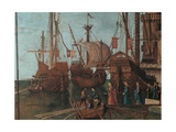 Legend of St. Ursula. Meeting and Departure of the Betrothed Plakat af Vittore Carpaccio