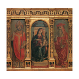Madonna and Child with Sts. Jerome and Ambrose Posters by Bernardo Zenale