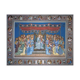 Magesty, copy from Simone Martini, 1344. Palazzo Pubblico, Siena, Italy Poster von Simone Martini