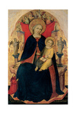 Altarpiece, Madonna seated on the throne and Child Posters by Nicola di Pietro