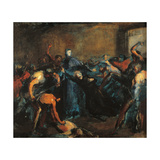Monseigneur Darboy in His Prison Giclee Print by Jean-Baptiste Carpeaux