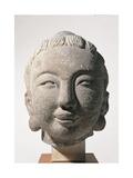 Head of Buddha or of Bodhisattva. Unknown artist, undated. Banca d'Italia, Gualino Collection, Rome Art