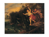 Pan and Syrinx, copy from Peter Paul Rubens Giclee Print by  Jan Bruegel the Elder