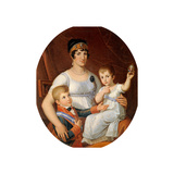 Queen of Etruria Maria Louisa of Bourbon with Children Reproduction procédé giclée par Pietro Benvenuti