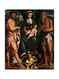 Madonna & Child, Sts. John the Baptist & Hieronymus Posters by Calisto Piazza