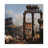 Capriccio with the Coliseum Prints by Bernardo Bellotto