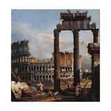 Capriccio with the Coliseum Giclee Print by Bernardo Bellotto