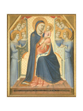 Madonna and Child Enthroned with Angels Plakater af Pietro Lorenzetti