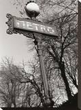 El Metro Reproducción en lienzo de la lámina por Clay Davidson