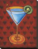 Martini Royale - Hearts Stretched Canvas Print by Will Rafuse
