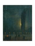 Fog in St. Mark's Square Plakater af Ippolito Caffi