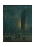 Fog in St. Mark's Square Print by Ippolito Caffi