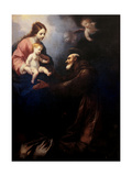 Virgin Mary Gives St. Felice the Infant Jesus Art by Simone Pignoni