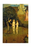 Tryptych of Hay, The Original Sin Poster by Hieronymus Bosch