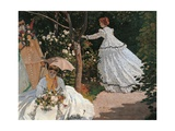 Women in the Garden Art by Claude Monet